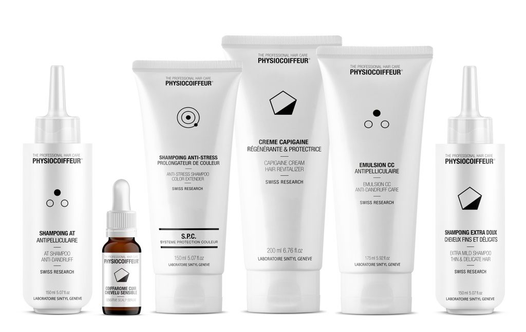 Scalp care products by Physiocoiffeur Switzerland