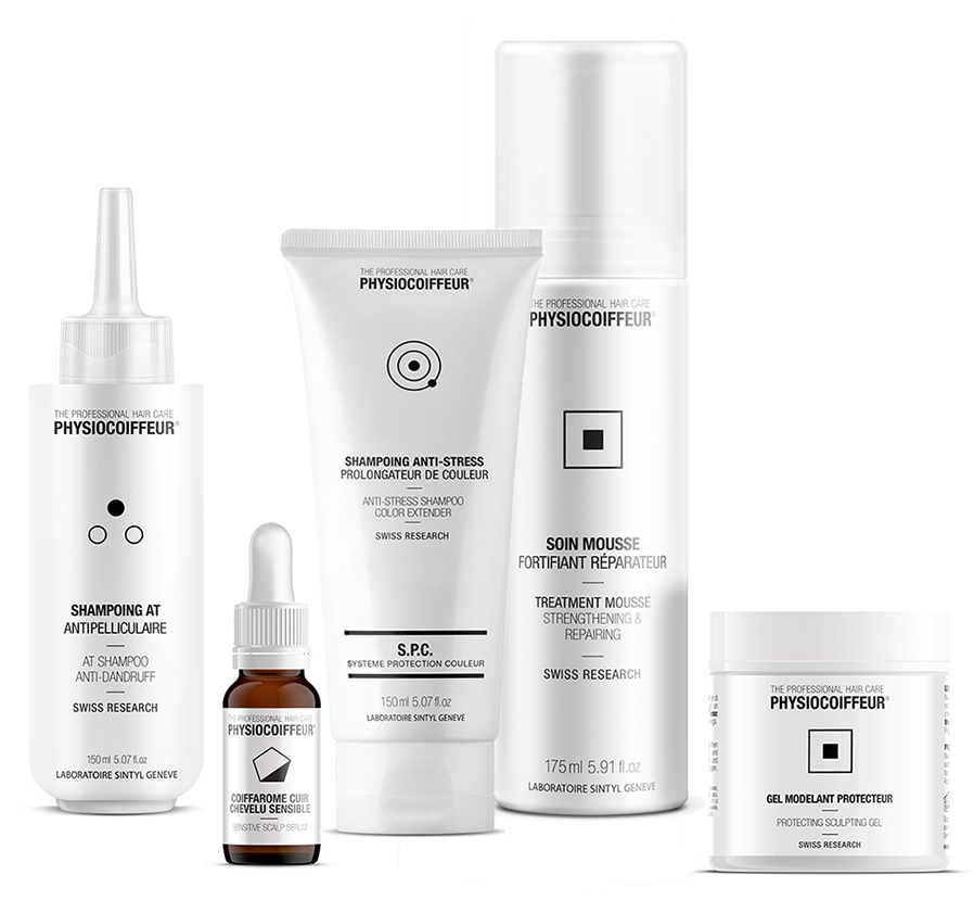 Physiocoiffeur swiss hair care products